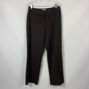 Worthington Stretch Brown Straight Pants 12S 12P